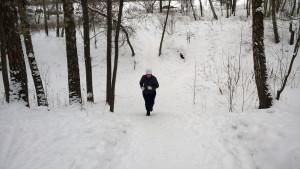 пробежка в лесную гору